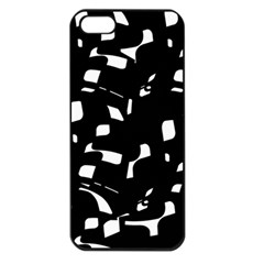 Black and white pattern Apple iPhone 5 Seamless Case (Black)