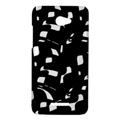 Black and white pattern HTC Butterfly X920E Hardshell Case
