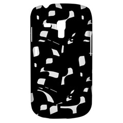 Black and white pattern Samsung Galaxy S3 MINI I8190 Hardshell Case