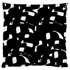 Black and white pattern Standard Flano Cushion Case (One Side)