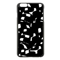 Black and white pattern Apple iPhone 6 Plus/6S Plus Black Enamel Case