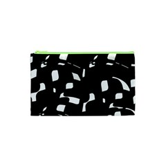 Black and white pattern Cosmetic Bag (XS)