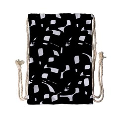 Black and white pattern Drawstring Bag (Small)