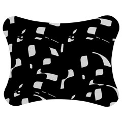 Black And White Pattern Jigsaw Puzzle Photo Stand (bow)