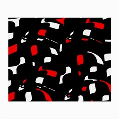 Red, black and white pattern Small Glasses Cloth (2-Side)