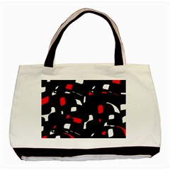 Red, black and white pattern Basic Tote Bag (Two Sides)