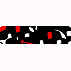 Red, black and white pattern Large Bar Mats
