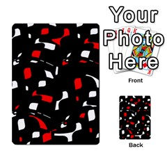Red, black and white pattern Multi-purpose Cards (Rectangle)