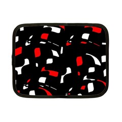 Red, black and white pattern Netbook Case (Small)