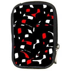 Red, black and white pattern Compact Camera Cases