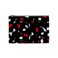 Red, black and white pattern Cosmetic Bag (Medium)