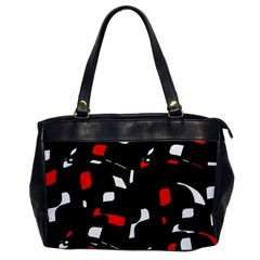 Red, black and white pattern Office Handbags