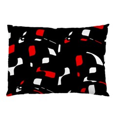 Red, black and white pattern Pillow Case (Two Sides)