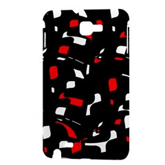 Red, black and white pattern Samsung Galaxy Note 1 Hardshell Case