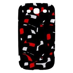 Red, black and white pattern Samsung Galaxy S III Hardshell Case