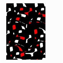 Red, black and white pattern Small Garden Flag (Two Sides)