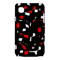 Red, black and white pattern Samsung Galaxy SL i9003 Hardshell Case