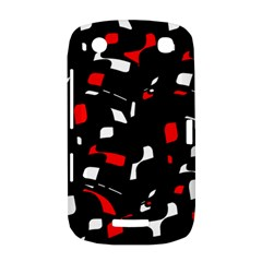 Red, black and white pattern BlackBerry Curve 9380