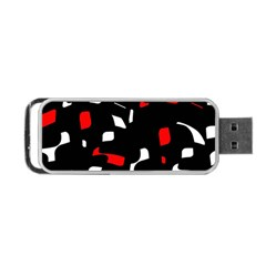 Red, black and white pattern Portable USB Flash (One Side)