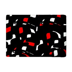Red, black and white pattern Apple iPad Mini Flip Case