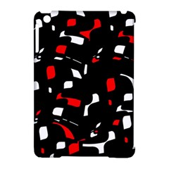 Red, black and white pattern Apple iPad Mini Hardshell Case (Compatible with Smart Cover)