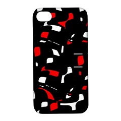 Red, black and white pattern Apple iPhone 4/4S Hardshell Case with Stand