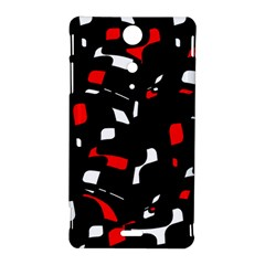 Red, black and white pattern Sony Xperia TX