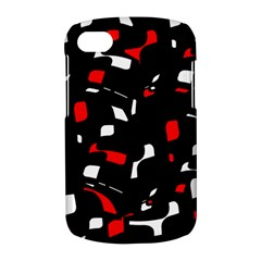 Red, black and white pattern BlackBerry Q10
