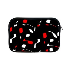 Red, black and white pattern Apple iPad Mini Zipper Cases