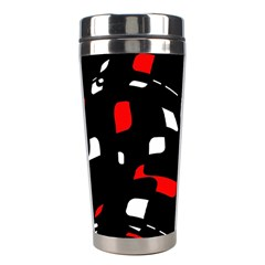 Red, black and white pattern Stainless Steel Travel Tumblers
