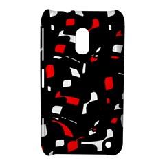 Red, black and white pattern Nokia Lumia 620
