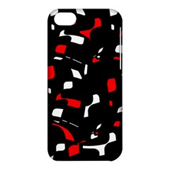 Red, black and white pattern Apple iPhone 5C Hardshell Case
