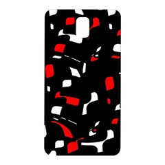 Red, black and white pattern Samsung Galaxy Note 3 N9005 Hardshell Back Case