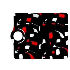Red, black and white pattern Kindle Fire HDX 8.9  Flip 360 Case