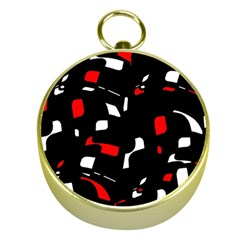Red, black and white pattern Gold Compasses