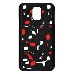 Red, black and white pattern Samsung Galaxy S5 Case (Black)
