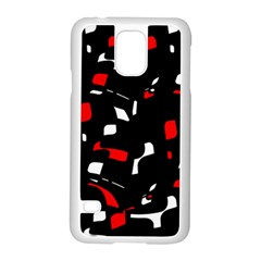 Red, black and white pattern Samsung Galaxy S5 Case (White)