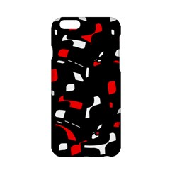 Red, black and white pattern Apple iPhone 6/6S Hardshell Case