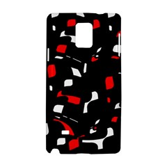 Red, black and white pattern Samsung Galaxy Note 4 Hardshell Case