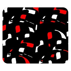 Red, black and white pattern Double Sided Flano Blanket (Small)