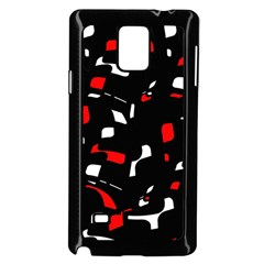 Red, black and white pattern Samsung Galaxy Note 4 Case (Black)