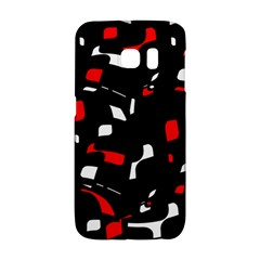 Red, black and white pattern Galaxy S6 Edge