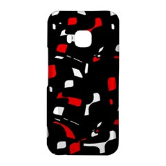 Red, black and white pattern HTC One M9 Hardshell Case