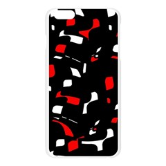 Red, black and white pattern Apple Seamless iPhone 6 Plus/6S Plus Case (Transparent)