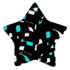 Blue, black and white pattern Ornament (Star)