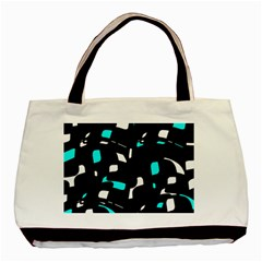 Blue, black and white pattern Basic Tote Bag (Two Sides)