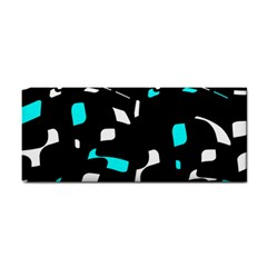 Blue, black and white pattern Hand Towel