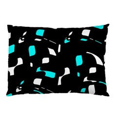 Blue, black and white pattern Pillow Case