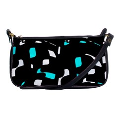 Blue, black and white pattern Shoulder Clutch Bags