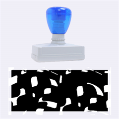Blue, black and white pattern Rubber Stamps (Large)